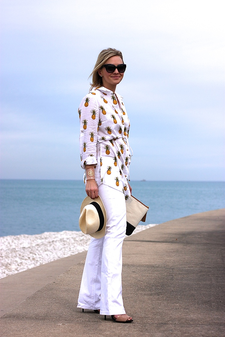 Tory Burch Pineapple Mira Beach Shirt_0148