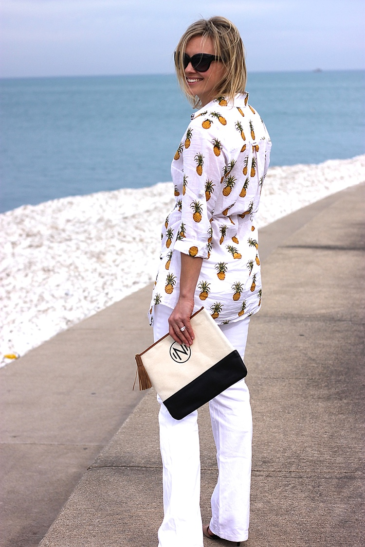 Tory Burch Pineapple Mira Beach Shirt_0149