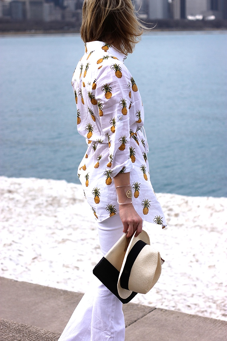 Tory Burch Pineapple Mira Beach Shirt_0150