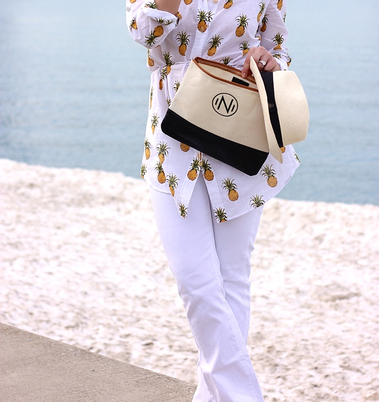 Tory Burch Pineapple Mira Beach Shirt_0151
