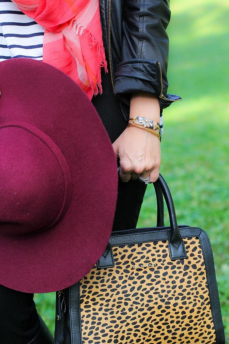 vera bradly leopard handbag