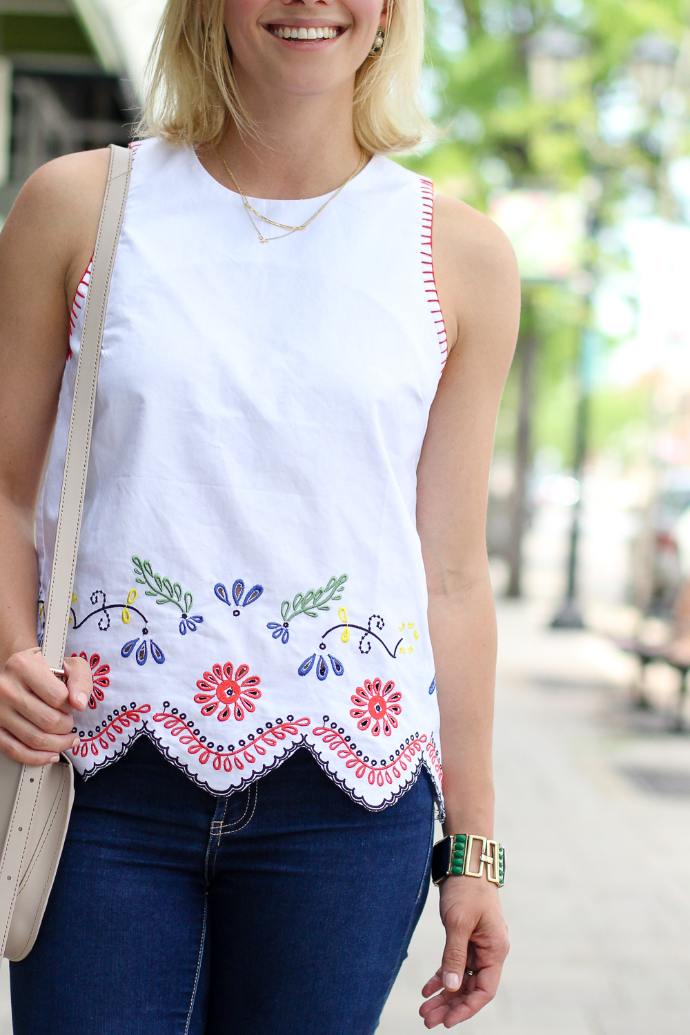 endless rose embroidered top