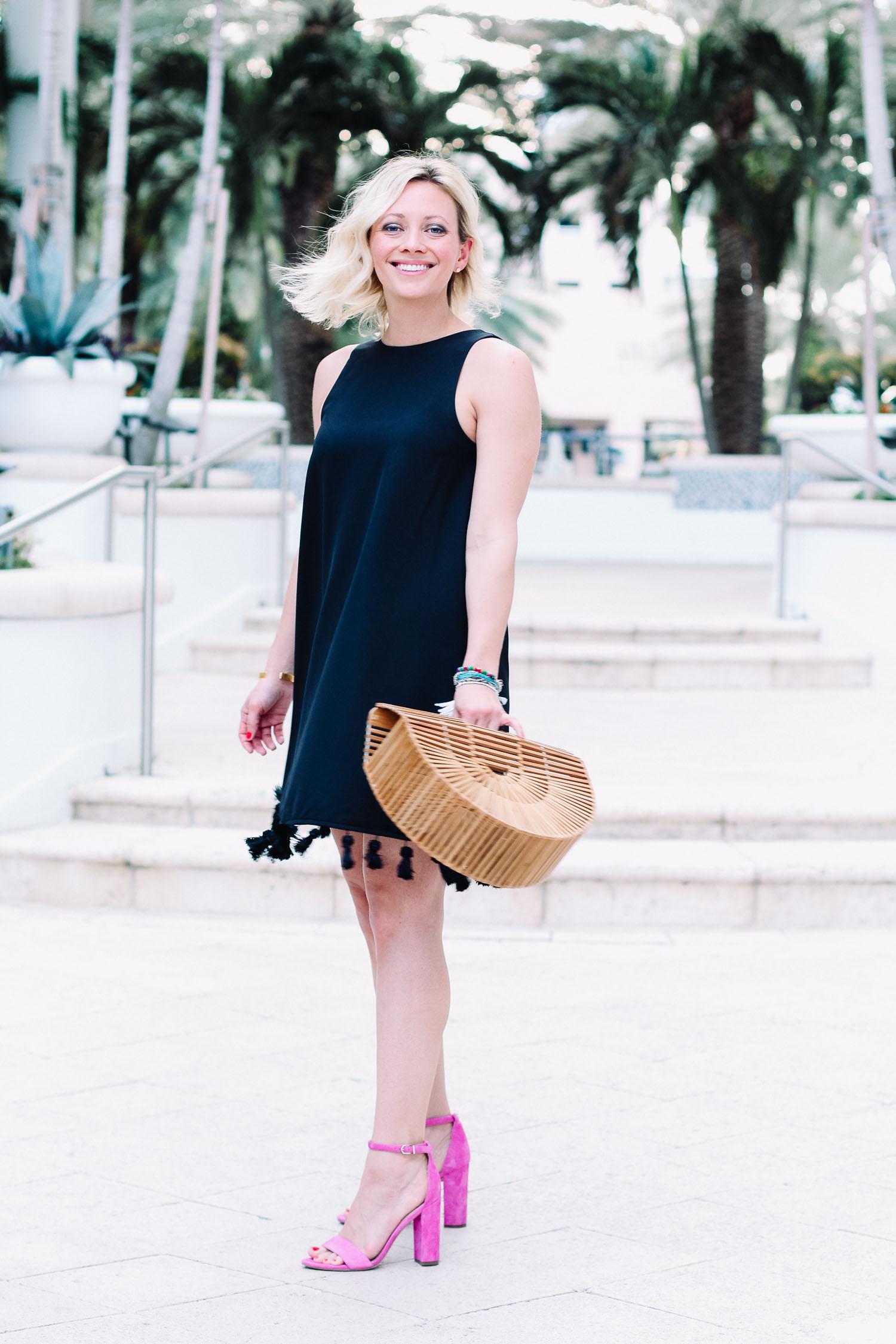 twirling in endless rose sleeveless black dress