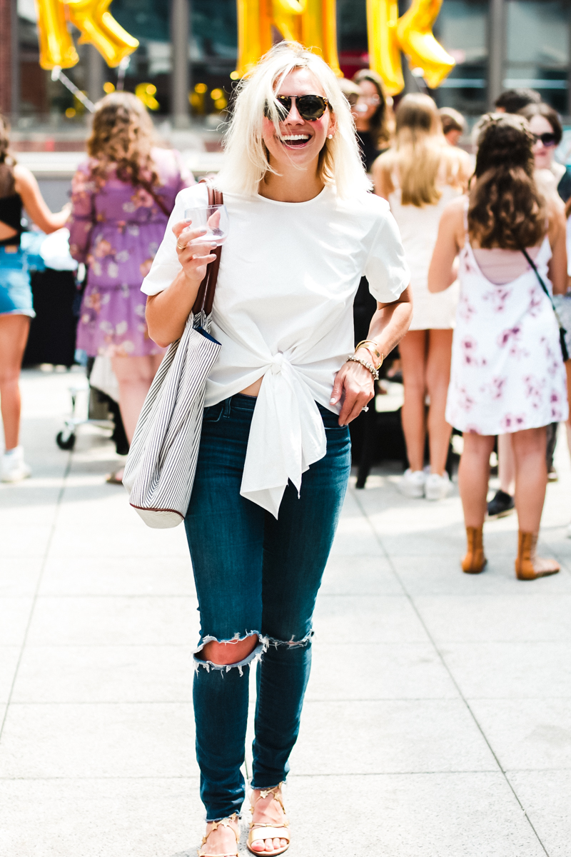 nordstrom white tie front blouse