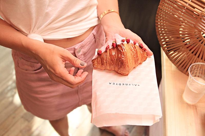 Alfred Tea Room rose croissant