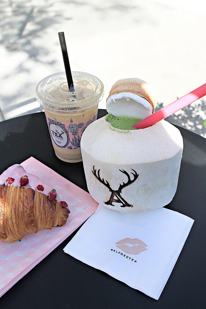 Alfred Tea Room Los Angeles matcha coconut