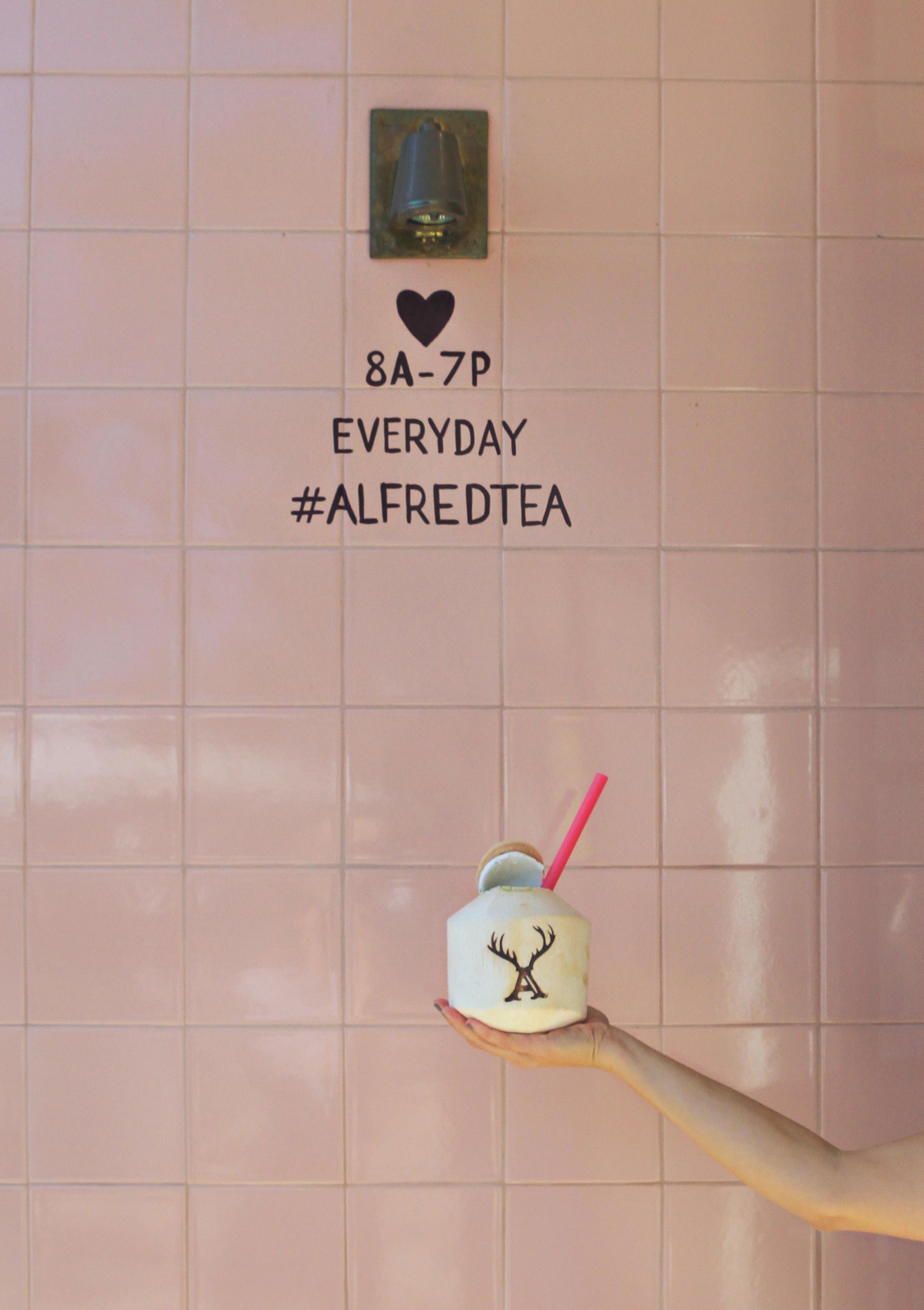 Alfred Tea Room coconut matcha